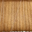 Esparto woven hemp curtain as traditional mediterranean - Stock Photo