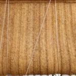 Esparto woven hemp curtain as traditional mediterranean — Stock Photo #11350645