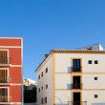 Ibiza island facades from Eivissa town — Stock Photo