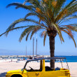Royalty-Free Stock Photo: Formentera island with summer retro convertible