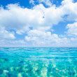 Belearic islands turquoise sea under blue sky — Stockfoto