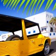 Stock Photo: Balearic Formenterisland Lsavinwith retro car