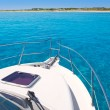 Boat in Formentera island on llevant beach - ストック写真