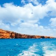 Formentera Raco des Forat with round tower - ストック写真