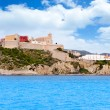 Stock Photo: Eivissa ibiza town castle and church