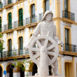 Eivissa ibiza town statue dedicated to all sailor — Stock Photo