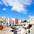Eivissa Ibiza town with church under blue sky — Stockfoto
