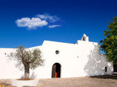 Ibiza Santa Agnes de Corona Ines white church — Stock Photo