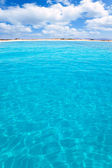Balearic Formentera island Llevant beach — Stock Photo