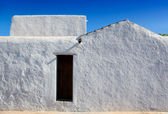 Ibiza Santa Agnes whitewashed houses — Stock Photo