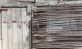 Aged grunge gray wood in mediterranean balearics — Stock Photo