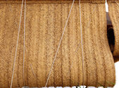 Esparto woven hemp curtain as traditional mediterranean — Stock Photo