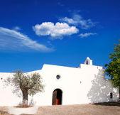 Ibiza santa agnes de corona Ines beyaz kilise — Stok fotoğraf