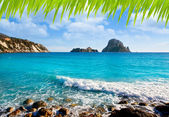 Es vedra island of Ibiza view from Cala d Hort — Stock Photo