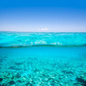 Belearic islands turquoise sea in out waterline — Stock Photo