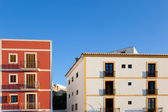 Ibiza island fasader från ibiza stad — Stockfoto