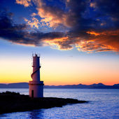 Sunset from La Savina lighthouse in Formentera — Stock Photo