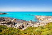 Balearic Formentera island in Escalo beach — Stock Photo