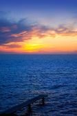 Balearic Formentera island sunset in Mediterranean — Stock Photo