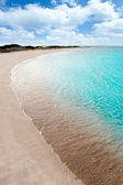 Turquoise beach in formentera — Stock Photo