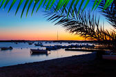 Formentera sunset in se estany des peix — Stock Photo