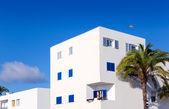 Balearic Formentera island white houses — Stock Photo