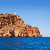 маяк острова форментера фаро де ла мола с видом на море — Стоковое фото