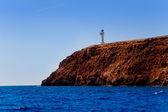 Formentera barbaria przylądek latarni widok z morza — Zdjęcie stockowe