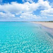 Formentera Llevant tanga turquoise beach — Stock Photo