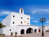 Ibiza Sant Josep de sa Talaia San Jose white church — Stock Photo
