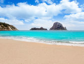 Cala d Hort Ibiza beach Es Vedra island — Stock Photo