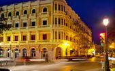 Eivissa Ibiza town night view with car traffic — Foto de Stock