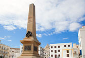 Eivissa Ibiza town corsair monument — Stock Photo