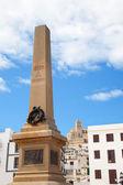 Eivissa Ibiza town corsair monument — Stock Photo