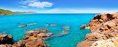Ibiza island Canal d en Marti Pou des Lleo beach — Stock Photo