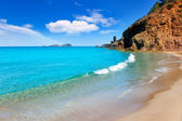 Aiguas Blanques Agua blanca Ibiza beach — Stock Photo