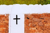 Ibiza sant mateu albarca d cruz iglesia de san mateo — Foto de Stock