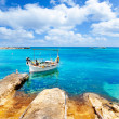 Stock Photo: Els Pujols beach in Formentera