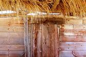 Aged grunge beige wood in mediterranean balearics — Stock Photo