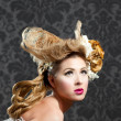 Foto Stock: Hairdressing and makeup fashion woman