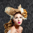 Hairdressing and makeup fashion woman — Stockfoto