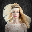 Hairdressing and makeup fashion woman — Stok Fotoğraf #11907417