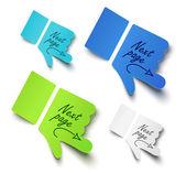 Paper hands — Stock Vector