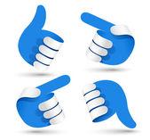 Mãos de papel — Vetorial Stock