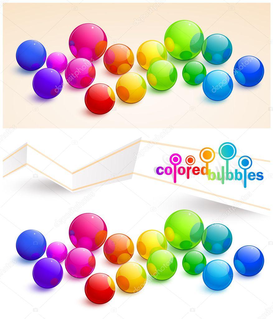 Colored bubbles — Stock Vector © -Baks- #11041989