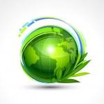 zelená planeta — Stock vektor