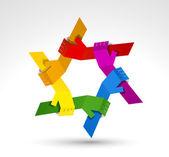Manos unidas. símbolo conceptual — Vector de stock