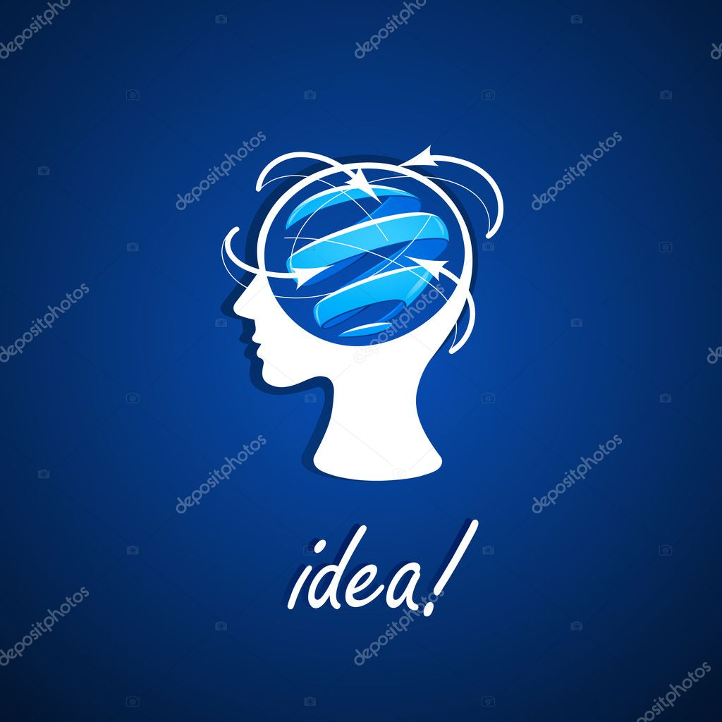 The human head generating ideas. Vector illustration  Stock Vector #11762642