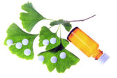 Ginkgo as a remedy — Stock Photo