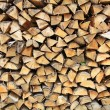Stack firewood — Stock Photo